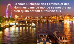 La Vraie Richesse des Femmes et des Hommes dans ce monde se mesure au bien qu'ils ont fait autour de eux. citation populaire aurélien malecki