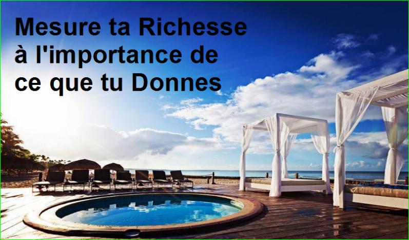 Mesure ta Richesse à l'importance de ce que tu Donnes. citation célèbre aurélien malecki