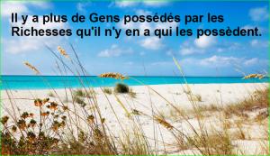 Il y a plus de Gens possédés par les Richesses qu'il n'y en a qui les possèdent. citation populaire aurélien malecki