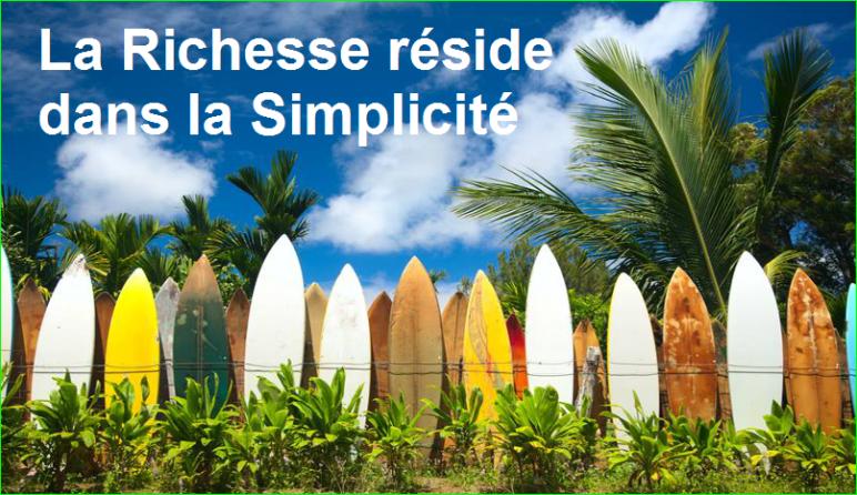 La Richesse réside dans la Simplicité. citation populaire aurélien malecki
