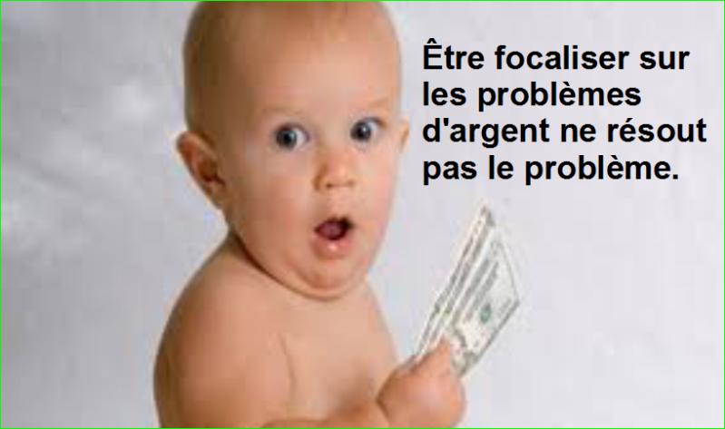 Être focaliser sur les problèmes d'argent ne résout pas le problème. Citations Populaires et Célèbres Proverbes Aurélien Malecki