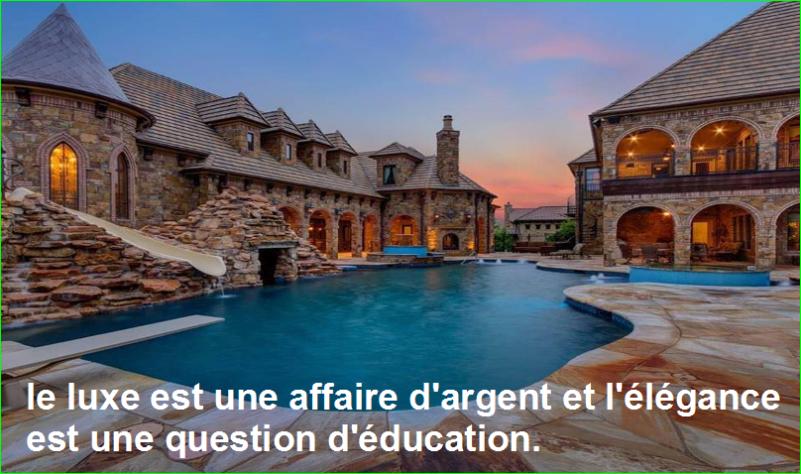 le luxe est une affaire d'argent et l'élégance est une question d'éducation. Citations Populaires et Célèbres Proverbes Aurélien Malecki