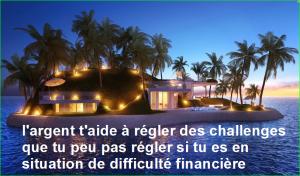 l'argent t'aide à régler des challenges que tu peu pas régler si tu es en situation de difficulté financière. Citations Populaires et Célèbres Proverbes Aurélien Malecki