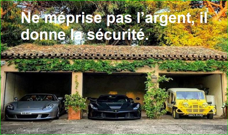 Ne méprise pas l'argent, il donne la sécurité. Citations Populaires et Célèbres Proverbes Aurélien Malecki