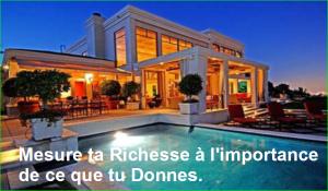 Mesure ta Richesse à l'importance de ce que tu Donnes. Citation Populaire et Célèbre de aurélien malecki