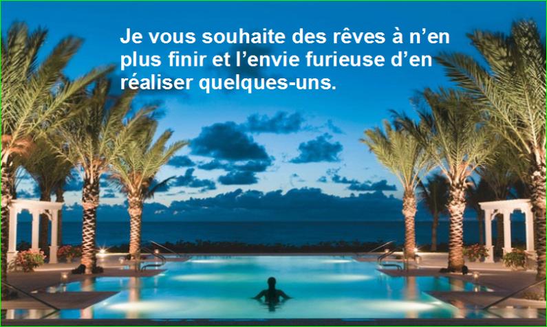 FAQ RecyclixFoire aux Questions Réponses en Français. Je vous souhaite des rêves à n'en plus finir et l'envie furieuse d'en réaliser quelques-uns. Top Citation belles et très jolie image photographie de aurélien malecki.