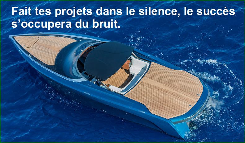 Fait tes projets dans le silence, le succès s'occupera du bruit. citation