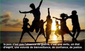 la paix n'est pas l'absence de guerre, c'est une vertu, un état d'esprit, une volonté de bienveillance, de confiance, de justice. Top Citation Populaire