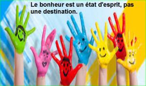 le bonheur est un état d'esprit, pas une destination. Top Citation Célèbre