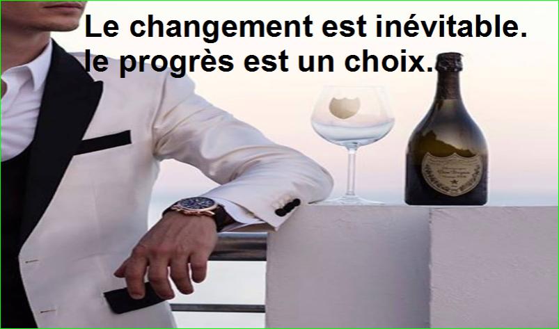 citation aurélien malecki. le changement est inévitable. le progès est un choix.