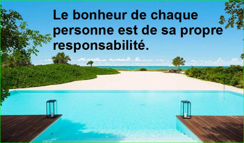 Le bonheur de chaque personne est de sa propre responsabilité. Citation d'Abraham Lincoln Populaire