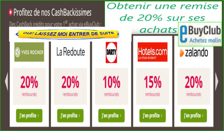 EbuyClub Top Cashback Présentation Officiel France. image photo EbuyClub Top Cashback