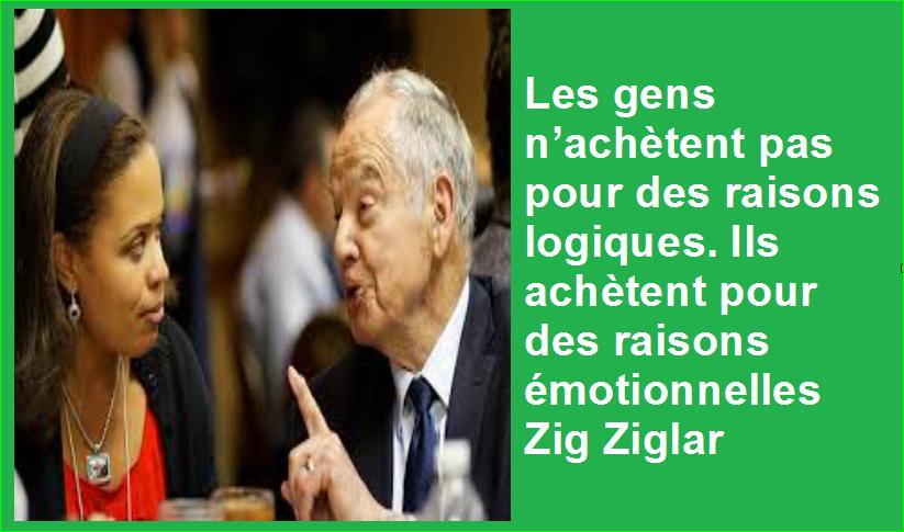 Les gens n'achètent pas pour des raisons logiques. Ils achètent pour des raisons émotionnelles Zig Ziglar Belles Citations Populaires Développement Personnel