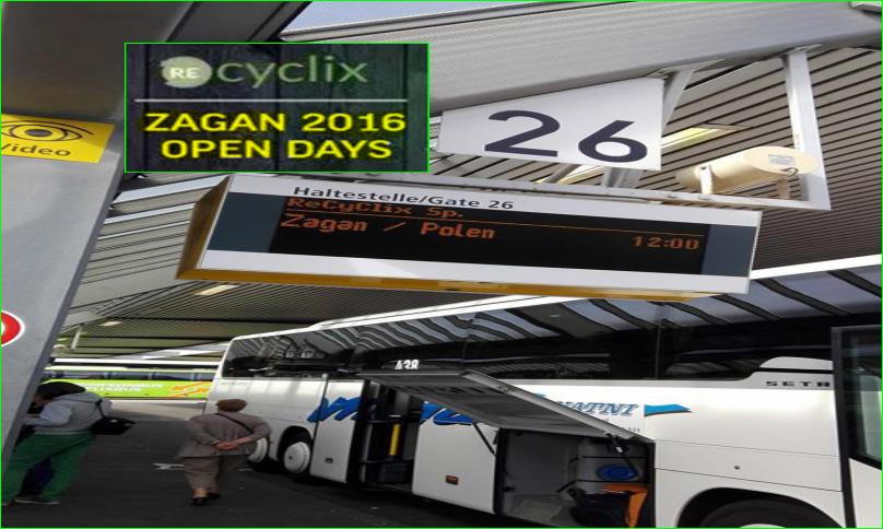 photos Recyclix navettes de bus pas chère Berlin Allemagne en Pologne à zagan