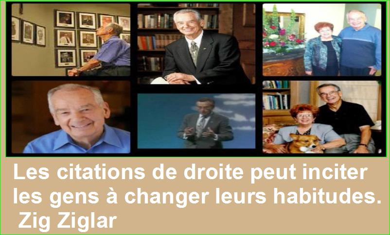 Les citations de droite peut inciter les gens à changer leurs habitudes. Zig Ziglar Belles Citations Populaires Leadership Succès