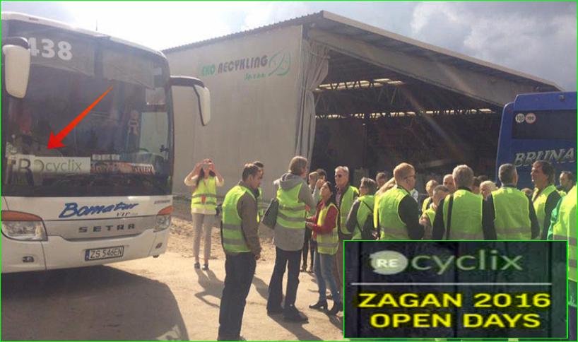 photos Recyclix bus news Open Days entrepot usines 2016 et visites guidées Streaming vidéo du recyclage des déchets plastiques, tracteurs, camions