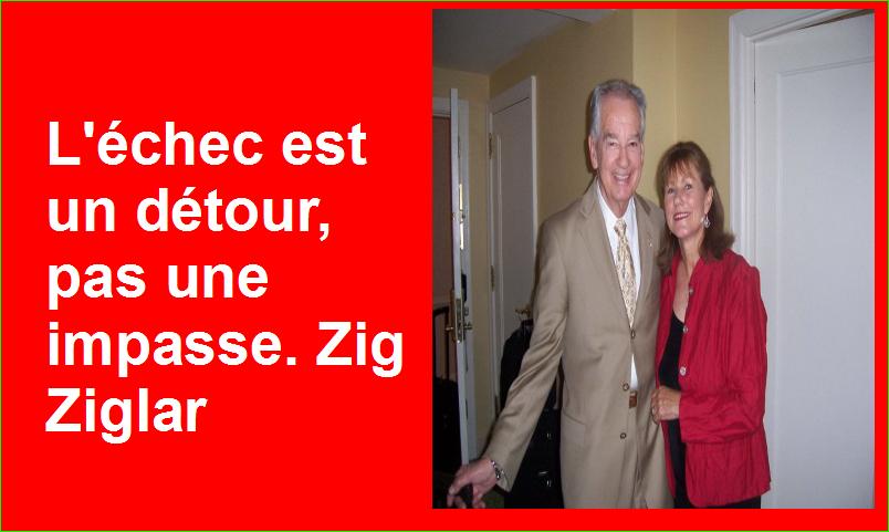 L'échec est un détour, pas une impasse. Zig Ziglar Belles Citations Populaires Leadership Succès
