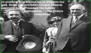 Un problème sans solution est un problème mal posé. Belles Citations Albert Einstein Célèbres leadership Beaux Proverbes Top Auteurs Businessman Poètes lifestyle indépendant