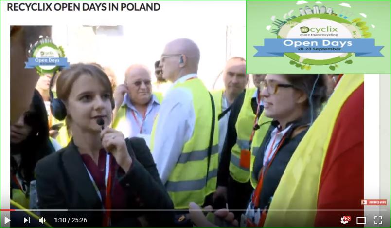 photos Recyclix open days in poland interview Streaming en ligne vidéo recycling news présentation Recyclages à zagan dépôts entreprise