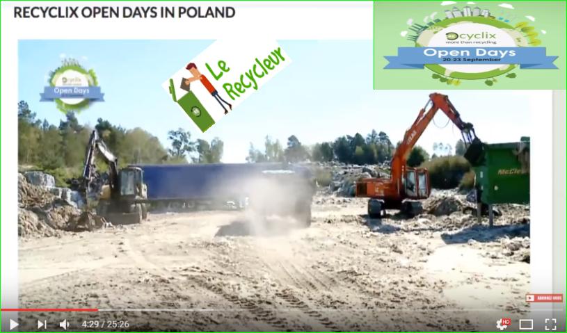 photos recyclix open days Streaming vidéo terrain tracteurs dépôts événements entreprises plastiques des déchets stockages