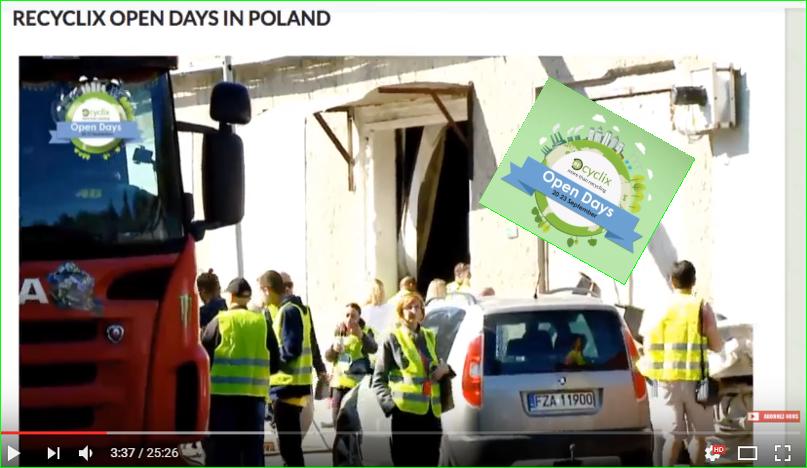 photos recyclix réunions open days en Pologne visites guidées bureaux Entrepreneuriat entreprises et stockages des déchets du recyclage