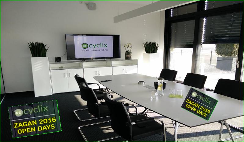 photos recyclix bureaux en pologne open days à zagan 2016 visites guidées et réunions des machines Chariots élévateur, Tri, Shredder, La lessive, et le Granulator