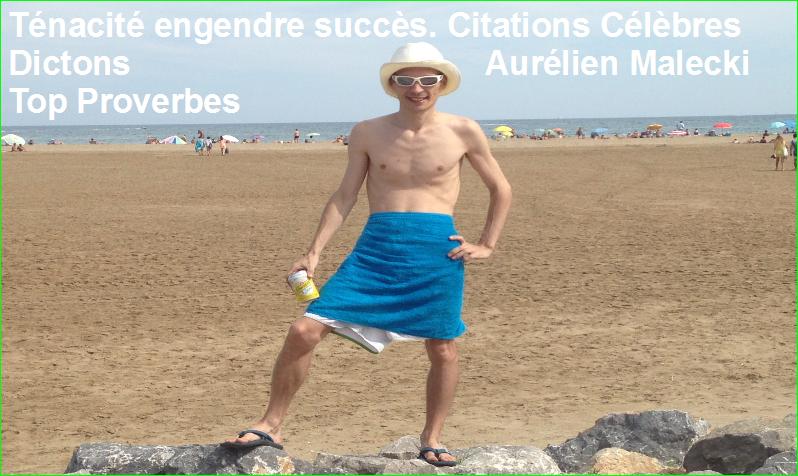 Ténacité engendre succès. Citations Célèbres Dictons Aurélien Malecki Top Proverbes
