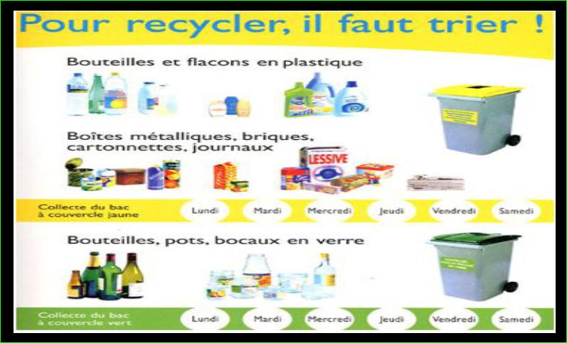 Le centre de triage les consignes du recyclage