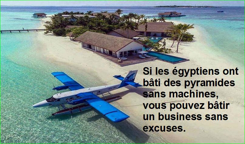 citation aurélien malecki. Si les égyptiens ont bâti des pyramides sans machines, vous pouvez bâtir un business sans excuses.