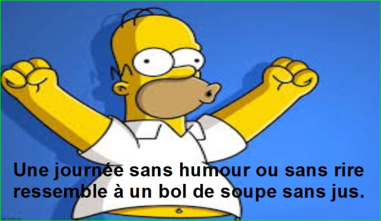 Une journée sans humour ou sans rire ressemble à un bol de soupe sans jus. Top Citation Humour Aurélien Malecki.