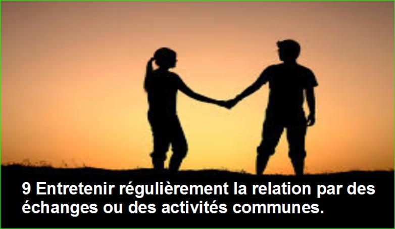 photo image 9 Entretenir régulièrement la relation par des échanges ou des activités communes.