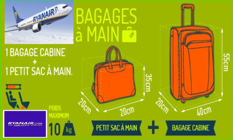 Ryanair Taille des bagages à mainvalisesDimensions en destinations voyagespas cher