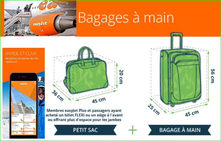 EasyJet Taille des bagages à mainvalisesDimensions en destinations voyagespas cher image photo de aurélien malecki