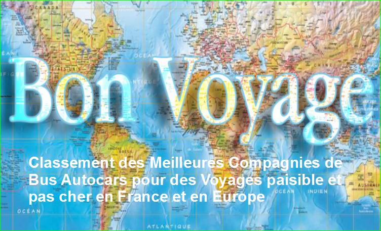 image photographie.Classement Top 5 des MeilleuresCompagnies de Bus Autocars de France et d'Europe pour des Voyages paisible et pas cheren France et en Europe