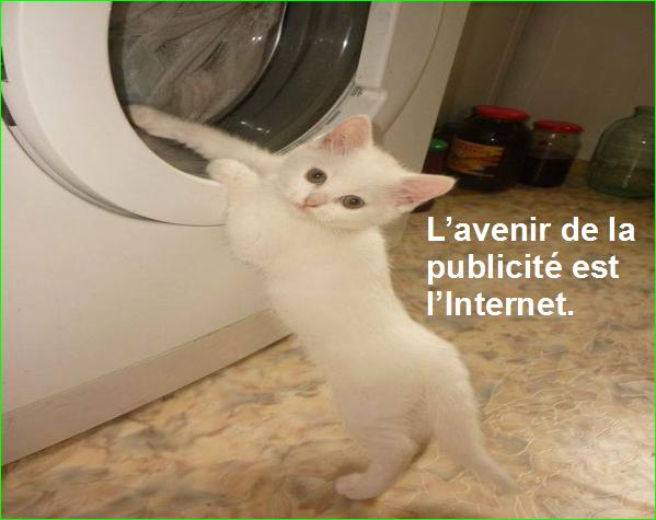 L'avenir de la publicité est l'Internet.Citation Bill GatesPopulaire dit William Henry photographie image aurélien malecki célèbre